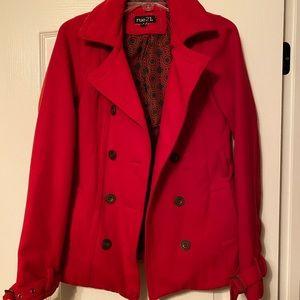 Rue 21 red pea coat! Super cute size medium